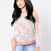 Driving Solo Sweater - Burgundy