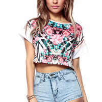 Blooming In The Tribe Crop Top