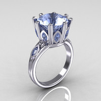 Classic 14K White Gold Marquise and 5.0 CT Round by artmasters