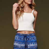 House of Harlow High Neck Cami Sweater - Womens Sweater - Natural