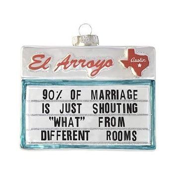 90% of Marriage Ornament