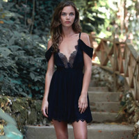 the jetset diaries - atlantic mini dress in black