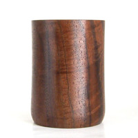 Wooden Pencil Cup Handcrafted in Walnut