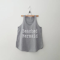 Beach mermaid tank womens graphic Tank Top with sayings funny quotes workout Shirt Hipster Girl Fashion Women Work out
