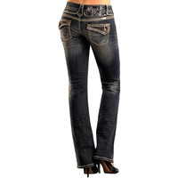 Rock & Roll Cowgirl Women's Stud Low Rise Boot Cut Jeans