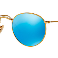 RAY-BAN RB 3447 N GOLD WITH BLUE MIRROR LENS