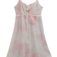 Pink Floaty Cut-Out Dress
