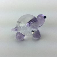 Purple glass turtle scupture