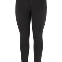 Plus Size - The Skinny Knit Pant With Stud Pockets - Black