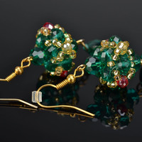 Handmade beaded crystals Earrings Vintage Fashion Accessories Gift ideas