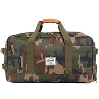 The Outfitter Duffle Bag in Woodland Camo & Orange
