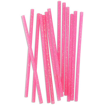 Skinny Pink Glitter Birthday Candles