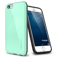 iPhone 6 Plus Case, Spigen® [Capsule Capella] Anti-Shock [Mint] Advanced Surround Anti-Shock Slim TPU Case for iPhone 6 Plus (2014)  - Mint (SGP11084)