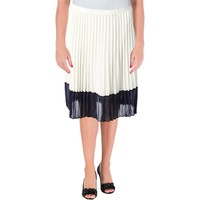 Lauren Ralph Lauren Womens Chiffon Colorblock Pleated Skirt