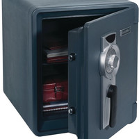 First Alert - .94 Cubic-ft Waterproof 1-Hour Fire Safe with Combination Lock