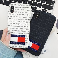 Tommy Fashion New More Letter Print Women Men Phone Case Protective Cover