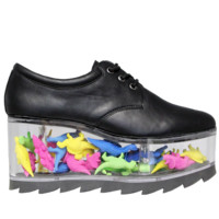 Qloud 2091 Platforms in Black Leather