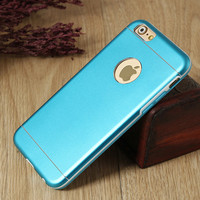 Blue Aluminum IPhone case,Drop Protection, Aluminum PC Tpu,IPhone 6 case,iPhone 6 Plus Case,