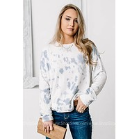 Lovely As The Bright Blue Sky Cropped Sweater