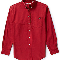 The Razorback Collection Line Solid Oxford Arkansas Woven Shirt