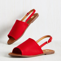 Two Steps Slingback Sandal in Crimson