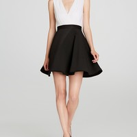 Alice + Olivia Dress - Tobin Two Tone Flare