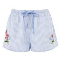 Topshop Embroidered Lounge Shorts | Nordstrom