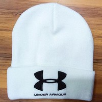 Perfect Under Armour Women Men Embroidery Winter Beanies Knit Hat Cap