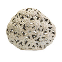 Lily Inspired Cutwork Large Vessel Imax Decorative Objects Decorative Accessories Home Dec