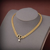 Dior Women's Fashion Accessories Fine Jewelry Ring & Chain Necklace & Earring 0531