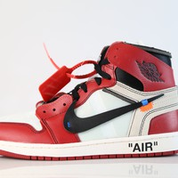 BC HCXX Nike X Off-White c/o Virgil Abloh Air Jordan Retro 1 Chicago AA3834-101 (NO Codes)