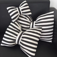 Butterfly Stripes Sofa Cushion Mat Neck Pillow [8227225991]