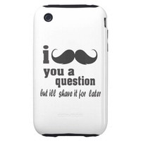 I mustache you a question tough iphone 3 cases from Zazzle.com