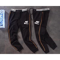 NIKE Trending Women Men Stylish Embroidery Drawstring Sport Pants Trousers Sweatpants Black