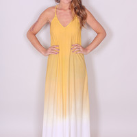 Ombre Maxi Dress - Yellow