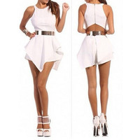 FASHION STRAPS SLEEVELESS JUMPSUIT