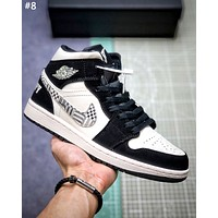Air Jordan 1 Mid new tide brand men and women models wild high-top sneakers #8