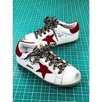 Ggdb Golden Goose Uomo Donna White Red Sneakers Shoes