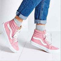 VANS Trending Casual Sports Sneakers Shoes high-tops pink