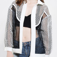 Cameo Embers Mesh Bomber Jacket - Urban Outfitters