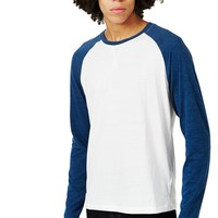 The Idle Man Long Sleeve Raglan T-Shirt White