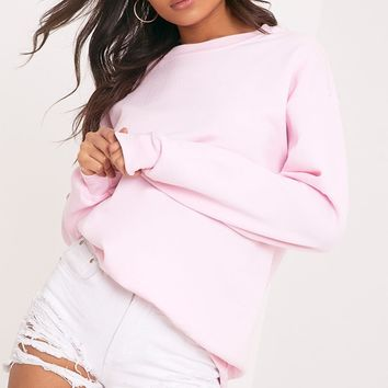 Ultimate Light Pink Crew Neck Sweater
