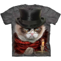 GRUMPENEZER SCROOGE The Mountain Funny Grumpy Cat Christmas T-Shirt S-3XL NEW