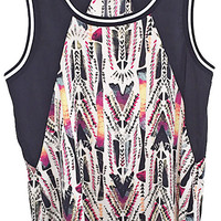 Sporty Chic Printed Tank Top