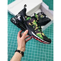 A Bathing Ape X Nike Air Max 270 Bape Camo Green Ah6799-003 Sport Running Shoes