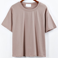 Khaki Drop Shoulder T-shirt