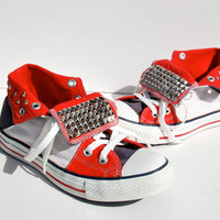 Studded American Flag Converse - Red/White/Blue - Rare Vintage Converse
