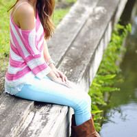 The Knitted Trend Sweater: Pink/White | Hope's