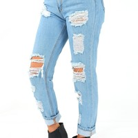 Ain't It Fun Jeans: Light Denim - Denim - Bottoms - Hope's Boutique