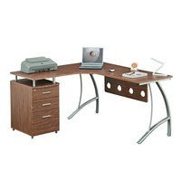 L Shape Corner desk with File Cabinet